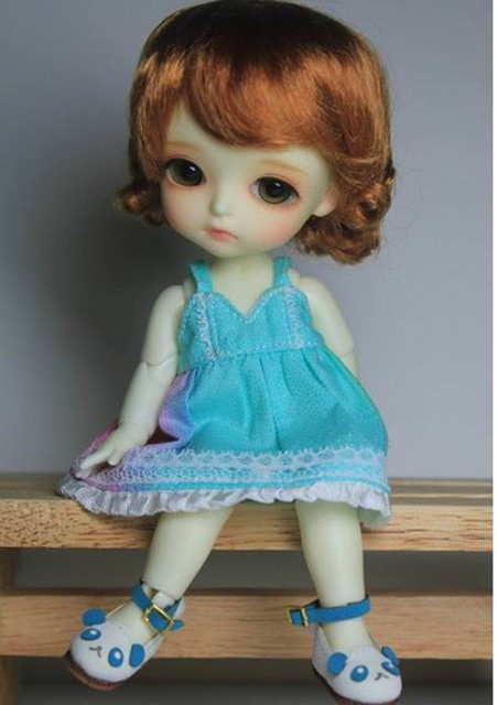 JD047 1/8 doll wig  Classical Curly BJD Wigs for Lati yellow doll size   Synthetic Mohair Doll wigs,