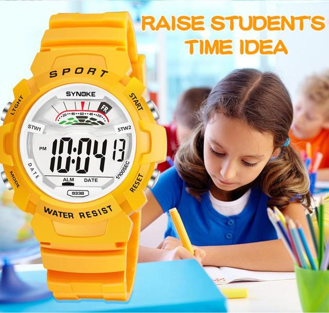 SYNOKE Fashion Children Watch Waterproof Child Boys Sports Electronic Quartz Watch Kids Gift Relogio Masculino Luxury Brand L30