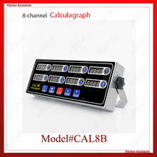 CAL8B/CAL12C portable calculagraph 8/12 channel multi-function digital timer LCD display shaking reminder