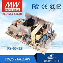 الازدهار يعني جيدا PS 65 12 12 فولت 5.2A ميانويل PS 65 62.4 واط إخراج واحد تحويل التيار الكهربائي