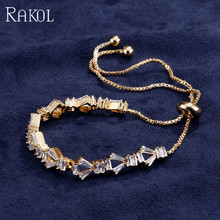 2018 Newest Design Luxury Full Paved CZ Stone Wite Gold Color Rome Bracelets Chain For Women Rose Gold Color Adjustable Bangles сумка rose rome dualyunnan 2015