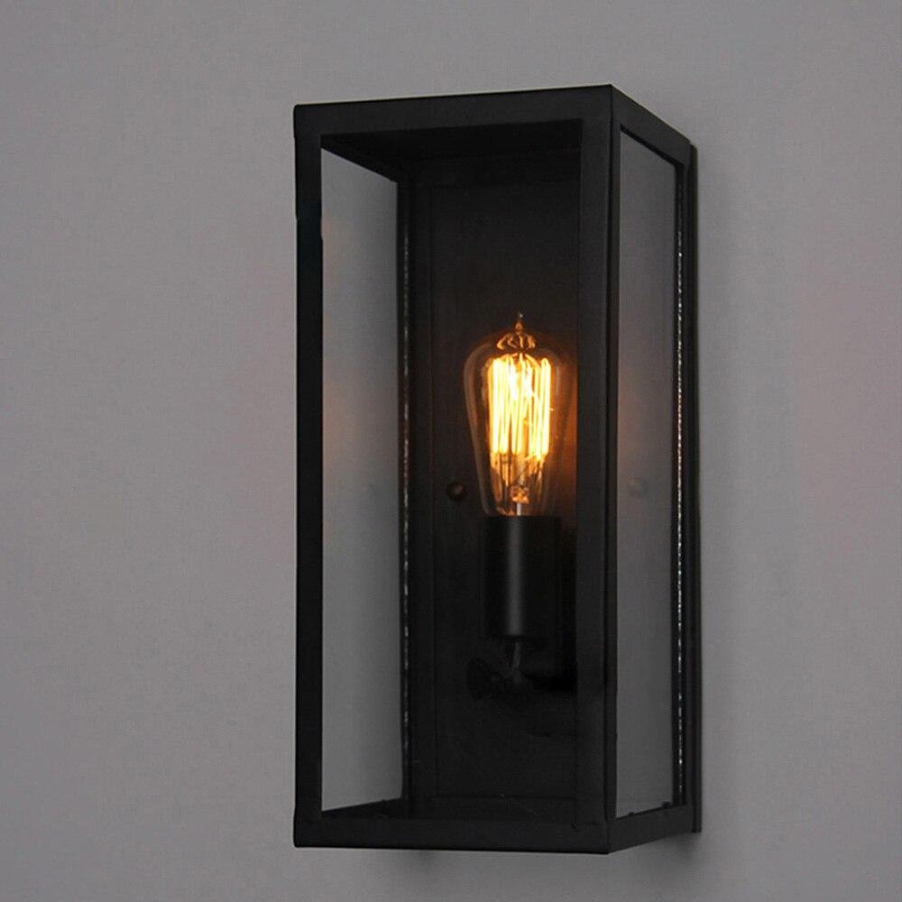 Черный Крытый Настенные светильники Кухня лобби Ванная комната антикварные настенные бра Винтаж Промышленное освещение Лофт кованого железа LED Бра - 3