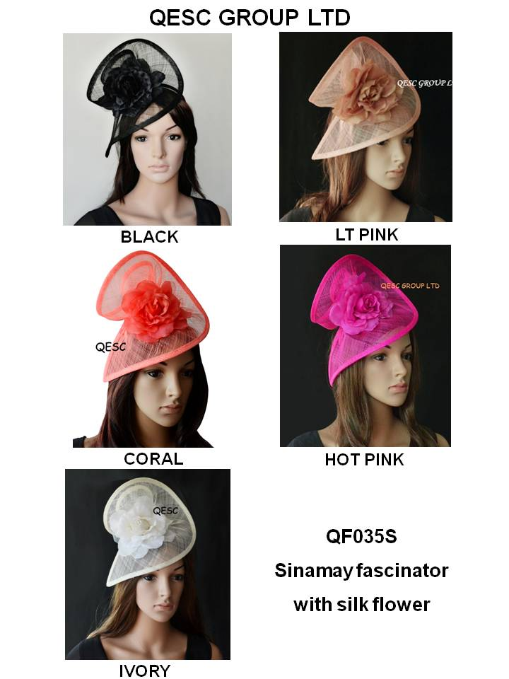 Wholesale Elegant NEW Sinamay Fascinator women s hat for Ascot Races Melbourne Cup kentucky derby wedding