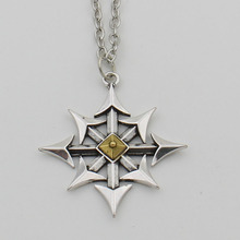 Cross of Chaos Star Necklace,Chaos Magick Pendant Arrows of Chaos Necklace Satanic
