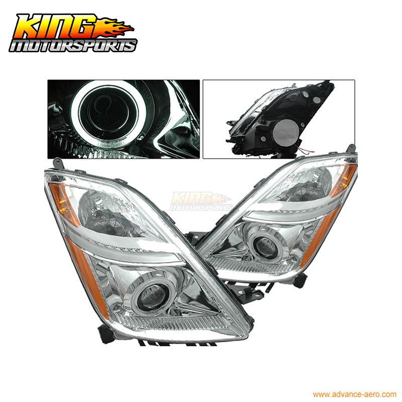 For 2006-2009 Toyota PriUS CCFL Halo Projector Headlights Chrome USA Domestic Free Shipping for 2005 2008 bmw e90 e91 4dr wgn projector headlights halo ccfl 06 07 us domestic free shipping