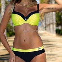 c5606acd05b09 Sexy Bikinis Women Swimsuit 2018 Summer Low Waisted Bathing Suits Halter Top  Push Up Bikini Set