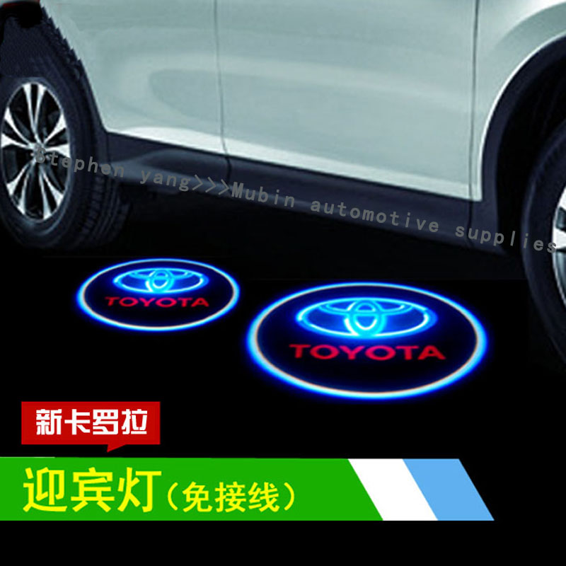 Car Led Interior Lights For 2019 Toyota Sequoia Sienna: LED Door Warning Light With TOYOTA Logo Projector For