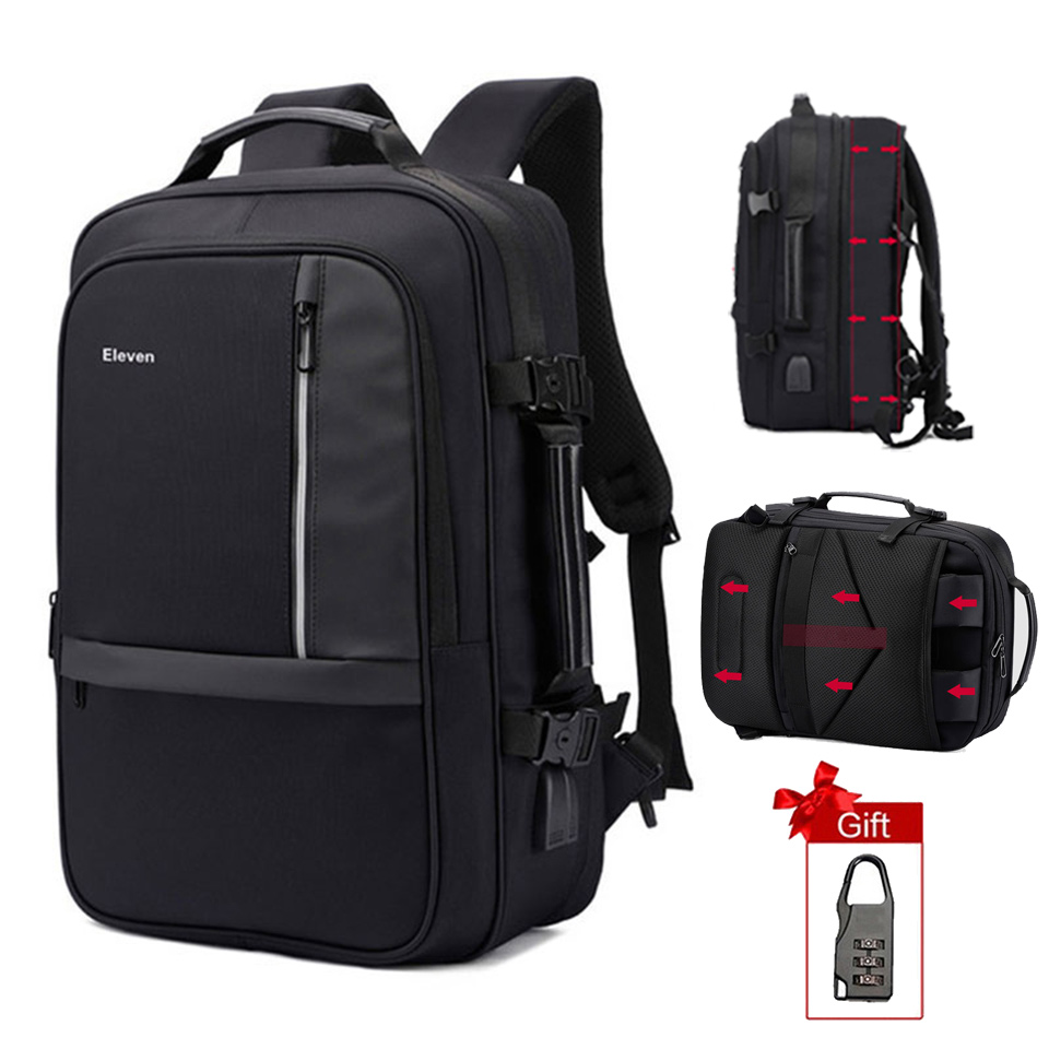 17 Inch Laptop Backpack Anti Theft Male Women Men 15 6 39 39 Notebook Large Travel Backpack USB Charging Waterproof Business Bagpack in Backpacks from Luggage amp Bags