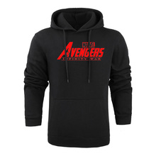 Hot MARVEL AVENGERS INFINITY WAR 2018 Autumn And Winter Brand Sweatshirts Men High Quality MARVEL letter printing fashion mens