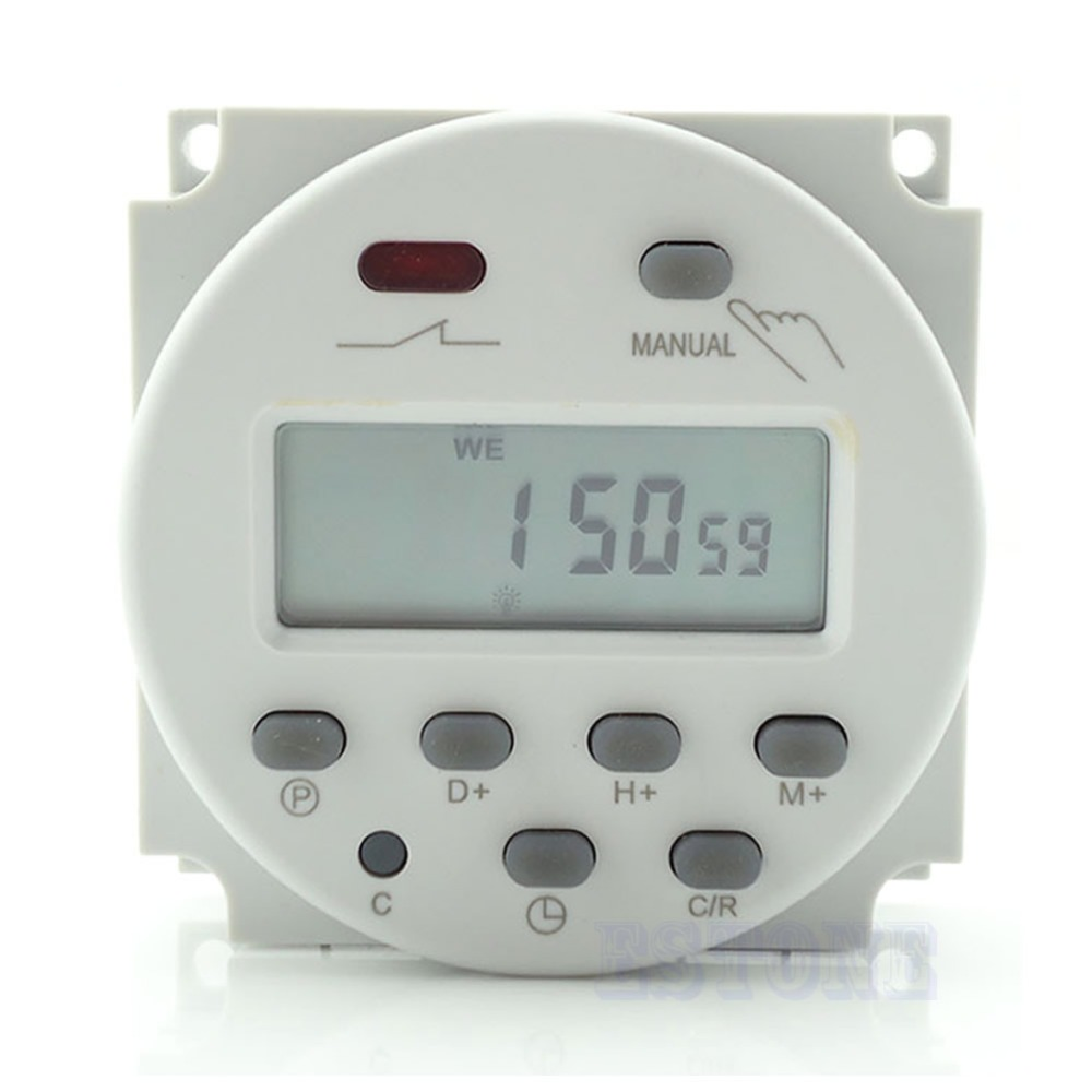 OOTDTY J34 AC 110V/220V 16A Time Digital LCD Power Control Programmable Timer Switch Relay sinotimer 12v ac dc control power timer 50 hz 24 hours timer switch control high quality time relay electronic instrument