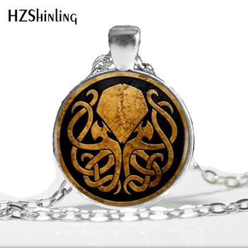 Cthulhu colgante de collar hecho a mano de cobre bronce cadena largo clásico collar de la joyería de las mujeres A-014 HZ1
