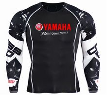 Yamaha revs your heart printed Fitness MMA Compression T Shirt Men Anime Bodybuilding Long Sleeve Crossfit 3D T Shirt Tops Tees(China)
