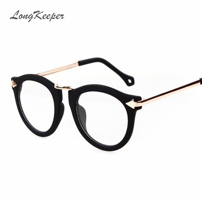 star style women glasses frame sexy ladies eyeware big size optical frame clear lens brand designer