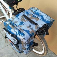 Enlarged Camo Saddle Bag 35l MTB Mountain Bike Rack Saddle Bag Multifunction Road Bicycle Pannier Rear Seat Trunk Bag недорого