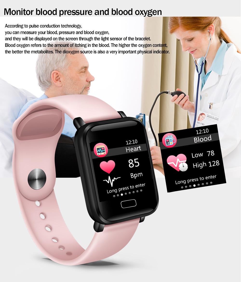 HTB18EQ aG67gK0jSZFHq6y9jVXas LIGE Smart Bracelet Women IP67 Waterproof Fitness Tracker Wristband Pedometer Heart Rate Monitor Sport Smart watch Android ios