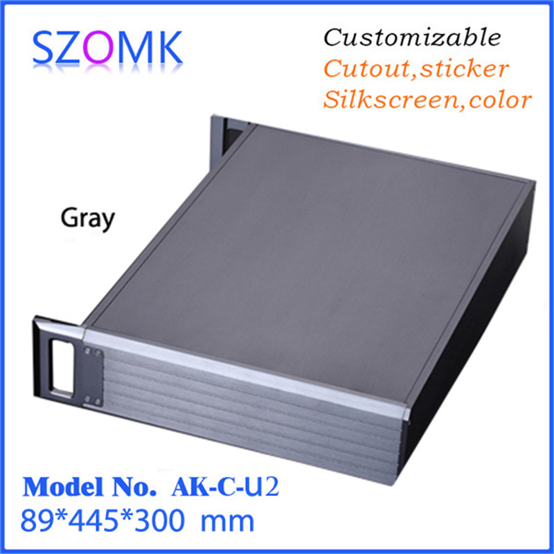 electrical aluminum enclosure box distribution junction box (1 pcs) 89*445*300mm high quality extruded aluminum control box 4pcs a lot diy plastic enclosure for electronic handheld led junction box abs housing control box waterproof case 238 134 50mm