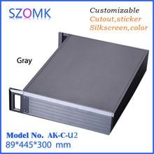 Caja de caja de distribución eléctrica caja de conexiones (1 unids) 89*445*300mm de alta calidad extruido caja de control de aluminio