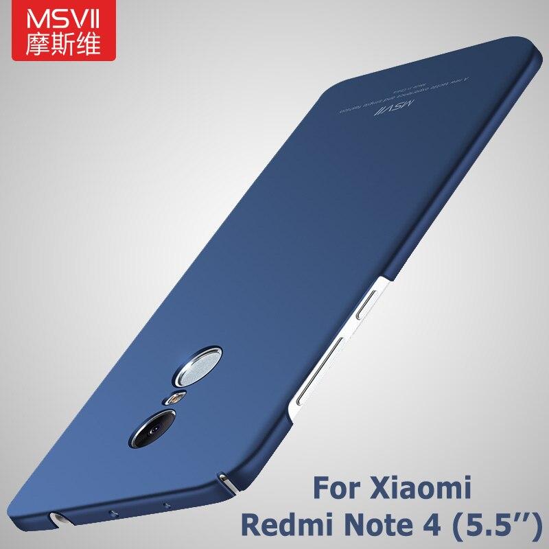 100% Original MSVII Case for Xiaomi redmi note 4 prime hard PC scrub ...