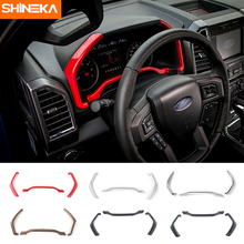 SHINEKA Interior Accessories Dashboard Trim Instrument Board Decorative Cover Strips Frame for Ford F150 2015+ Car Styling shineka car styling interior cover instrument panel trim dashboard trim for ford mustang 2015