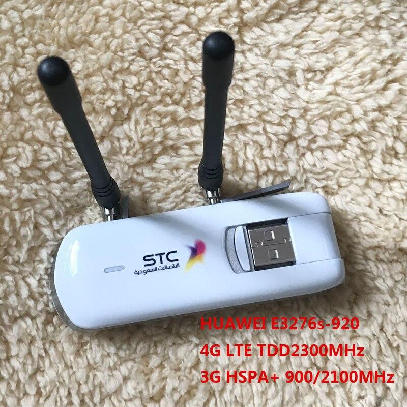 Débloqué Huawei E3276S-920 E3276s 4g LTE Modem 150 Mbps WCDMA TDD Sans Fil USB Dongle Réseau plus 2 pcs 4g antenne