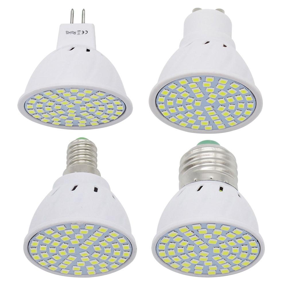 1pcs 6W 9W 12W E27 / E14 / GU10 / MR16 220V LED Lamp Spotlight 48LED 60LED 80LED 2835 SMD Light Chandelier Replace Halogen Bulb