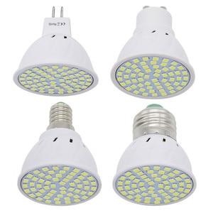 Image 1 - 1 قطعة 6W 9W 12W E27 / E14 / GU10 / MR16 220V LED مصباح الضوء 48LED 60LED 80LED 2835 SMD ضوء الثريا استبدال مصباح هالوجين
