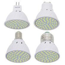 1pcs 6W 9W 12W E27 / E14 / GU10 / MR16 220V LED מנורת זרקור 48LED 60LED 80LED 2835 SMD אור נברשת להחליף הלוגן הנורה
