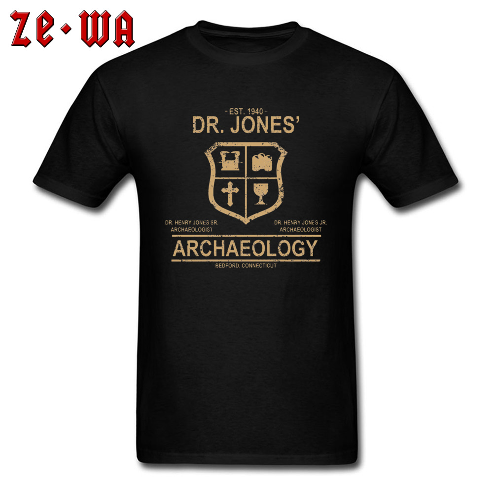 Tshirt Men T Shirt Dr. Jones Archaeology Indiana Jones Women T-Shirt 2019 New Vintage Logo Designer Top Clothes Cotton Fabric