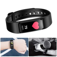 Smart Wristband Heart Rate Band Blood Pressure Bracelet Blood Oxygen Pedometer with iOS Android APP for Sport Fitness