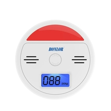 Home Security 85dB Warning LCD Photoelectric Independent CO Gas Sensor Carbon Monoxide Poisoning Alarm Detector Free
