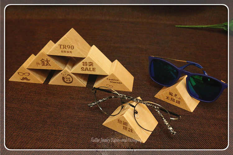 Fashion Wooden Triangle Sunglass Display Stand Eyeglass Holder Organizer  Glasses Showing Rack Shwcase  In Jewelry Packaging U0026 Display From Jewelry  ...