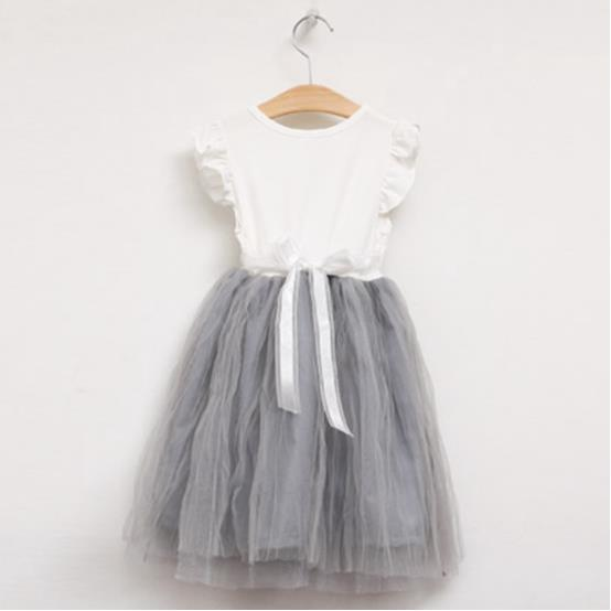 2016 Summer Tutu Evening Dress Baby Flower Girl V-neck Wedding Party - Children's Clothing