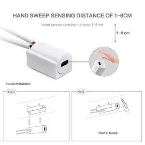 Image 2 - Tiras LED con Sensor de barrido manual, 110V, 220V a 12V, impermeables, 1M, 2M, 3M, 4M, 5M, Sensor de movimiento, luces nocturnas, lámpara de cocina para armario