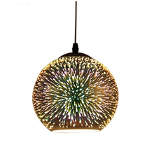 цены на Creative personality LED color 3D glass Pendant Lamp Nordic postmodern minimalist E27 Pendant Light for Restaurant Coffee Bar  в интернет-магазинах