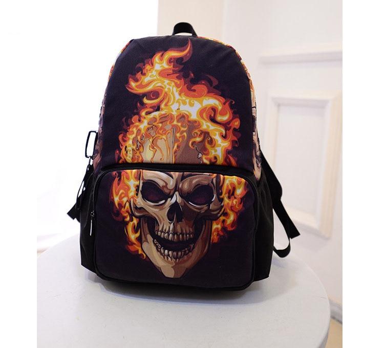 Cool Death Skull Backpack for Teenagers Eagle Children