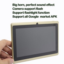 Big speaker Strengthen Volume 7 inch Android Tablet pc 1GB Rom 16GB Ram Dual Camera Quad