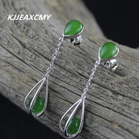 KJJEAXCMY S925 sterling silver jewelry, water drop lady and Tian Biyu's new earrings with certificate