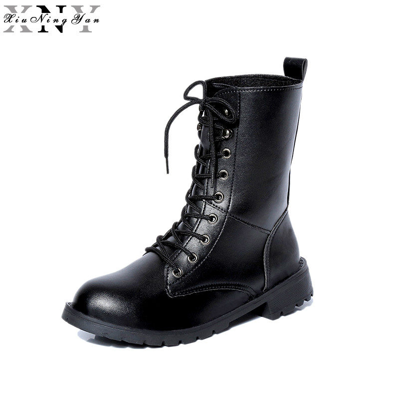 XiuNingYan Autumn Winter Rome Womens Round Toe Lace Up Punk Motorcycle Military Combat Riding Martin Ankle Boots Shoes Plus Size orange combat chinese women ankle boots 2016 round toe suede autumn fall flat lace up shoes work military genuine leather 2017