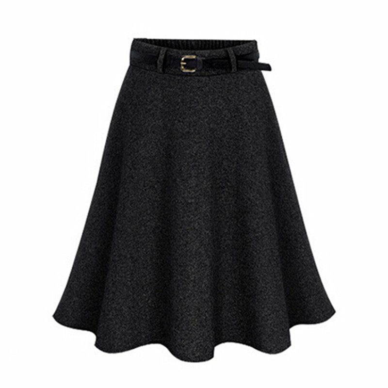 fc86fc1dce13d 2017 New Autumn Winter Women Skirt Plus Size M 6XL Woolen Skirts Ldaies  Pleated Midi Skirt Saia Fashion Mini Tutu Skirts Faldas-in Skirts from  Women s ...