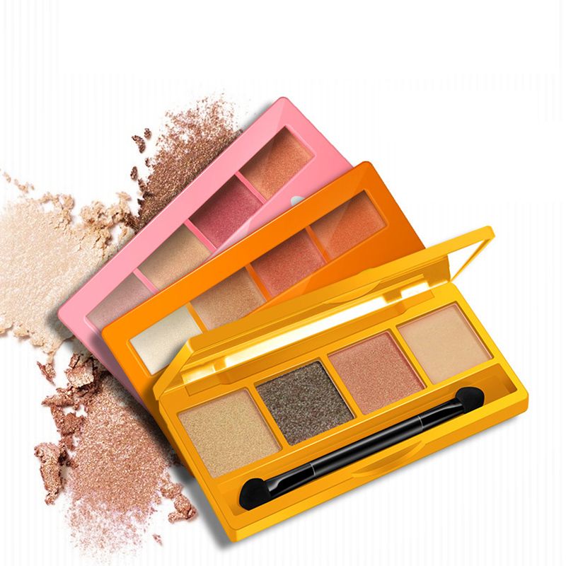 HOREC 4 Colors Shimmer Makeup Eyeshadow Palette