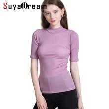 Women Wool shirt 100% Wool Short sleeved Turtleneck shirt for Women 2018 FALL Winter Bottoming shirt Black - DISCOUNT ITEM  40% OFF Women\'s Clothing