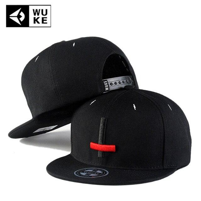 e3a9809c007 US $12.92 |WUKE Fashion Branded Baseball Caps Snapback for Men Women NEW  Summer Dad Full Hat Cotton Cool Hip Hop Caps Bone Gorras Casquette-in ...