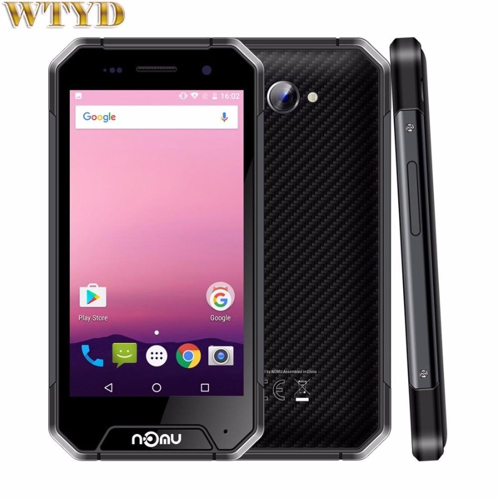 bilder für 4G NOMU S30 mini Dreibettzimmer Proofing Telefon 3 GB + 32 GB IP68 Wasserdicht 4,7 zoll Android 7.0 MTK6737T Quad-Core bis zu 1,5 GHz NFC OTG LTE