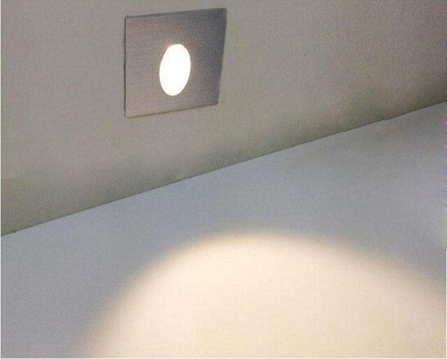 White Foyer Lighting : 3w led recessed step stair light for corner parthway foyer