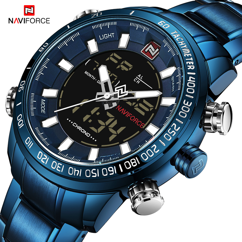 NAVIFORCE Men's Military Sports Watches Luxury Top Brand Digital Quartz Watch Men Waterproof Wrist Watch Clock Relogio Masculino фотобумага cactus cs ga523050 a5 230г м2 50л глянцевая для струйной печати