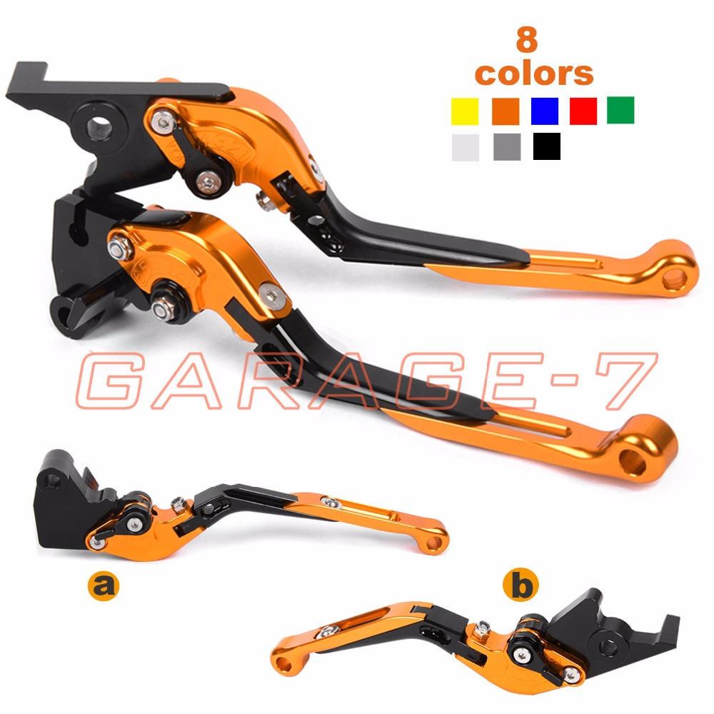 For KTM Duke 125 200 2012-2015 Duke 390 2012-2016 Motorcycle CNC Foldable Extending Brake Clutch Levers Folding Extendable Lever 2012