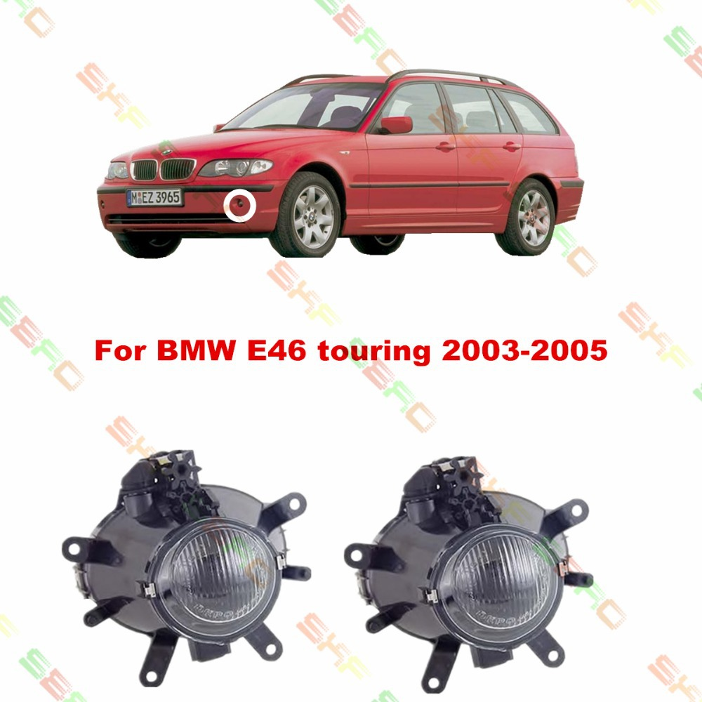 For BMW E46 touring  2003/04/05  car styling fog lights   1 SET FOG LAMPS car styling fog lights for bmw e64 2004 05 06 12 v 1 set