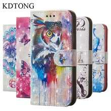KDTONG For Samsung Galaxy A6 2018 Case Cover Plus Flip Leather + Soft Silicone Walte Capa