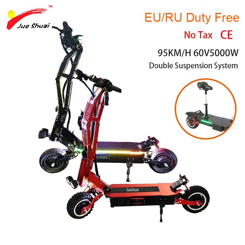 60 v 5000 W puissant scooter électrique haute vitesse 95 KM 60 V 42A batterie au Lithium pliant vélo électrique planche à roulettes électrique E Scooter