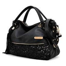 TEXU Noir femmes Messenger sacs pour femmes vintage designer sacs à main de haute qualité célèbre marques sac fourre-tout